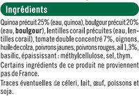 Galettes quinoa & boulgour provençale - Ingrédients - fr