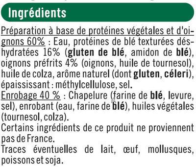 Bouchées panées blé et oignons bon & végétarien - Ingrédients - fr