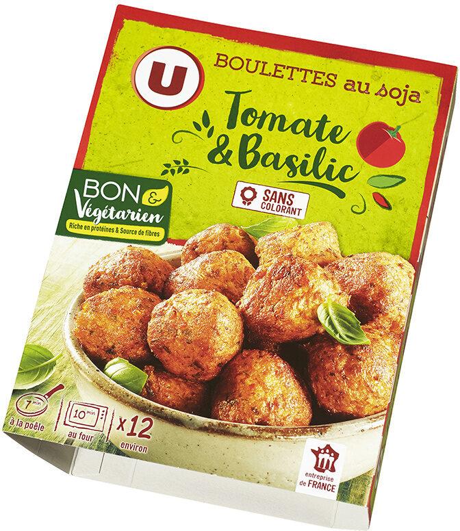 Boulettes au soja, tomate et basilic - Product - fr