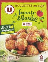 Boulettes au soja tomate et basilic - Produit - fr