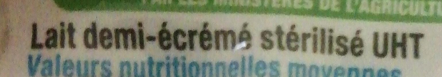 Lait 1/2 écrémé - Ingredients - fr