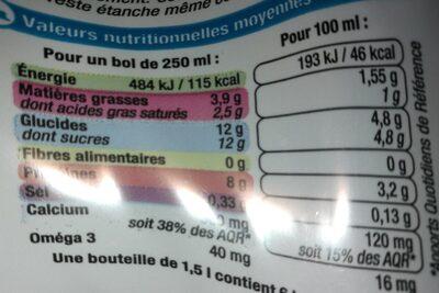 Lait 1/2 écrémé stérilisé UHT bleu blanc coeur - Ingredients - fr