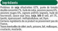 Pavés au soja provençal - Ingredienti - fr