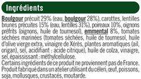 Galette boulgour, lentilles, poireaux - Ingrédients