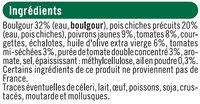Galette boulgour, pois chiche et légumes du soleil, - Ingrédients