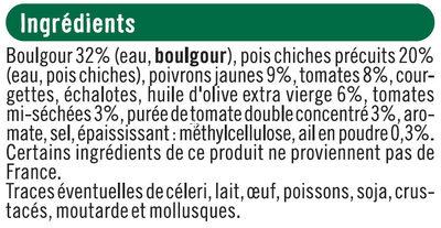Galettes aux Céréales - Boulgour, Pois Chiches & Légumes du Soleil - Ingrédients
