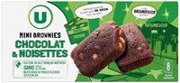 Mini brownie noisette et pépites de chocolat - Product - fr