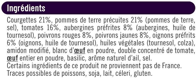 Palets de légumes du soleil - Ingredienti - fr