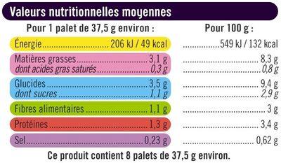 Palets de légumes du soleil - Valori nutrizionali - fr