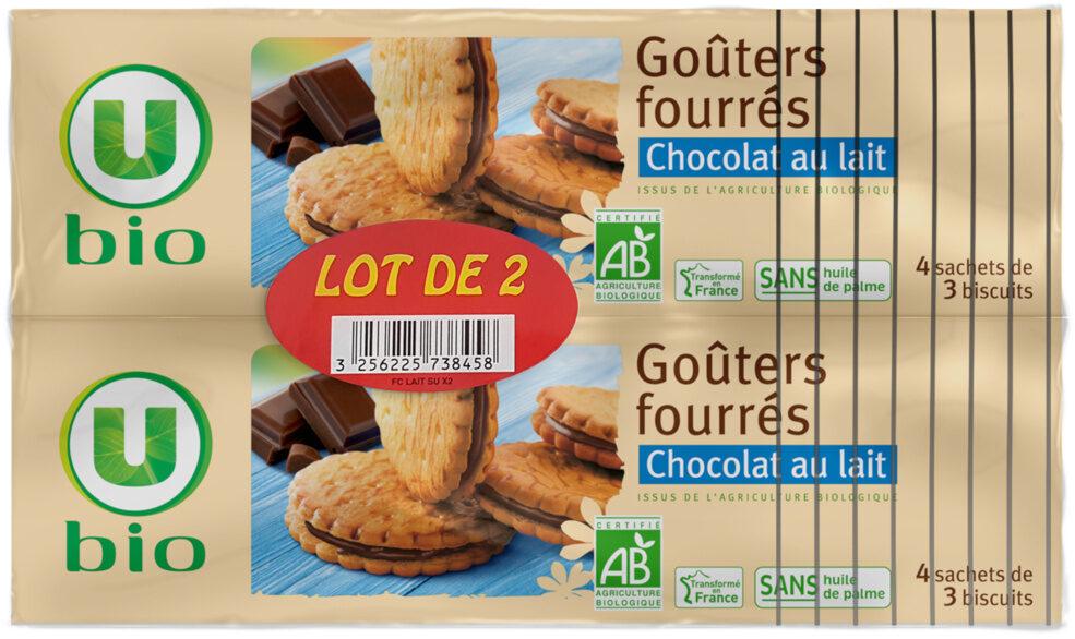 Goûters fourrés chocolat au lait - Produit - fr