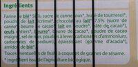 Goûters fourrés chocolat au lait - Ingrédients - fr