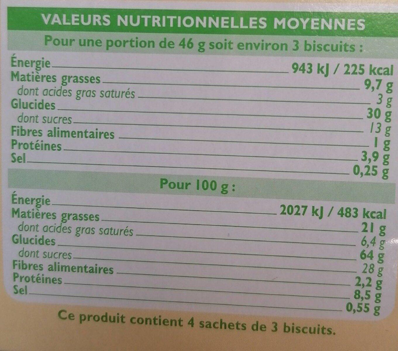 Goûters fourrés chocolat au lait - Informations nutritionnelles - fr