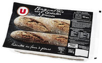 Demi-baguette aux céréales et graines précuite sur four à pierre - Product