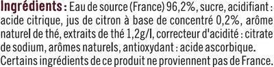 Boisson au thé Earl Grey saveur bergamote - Ingredients