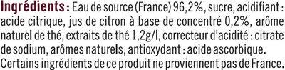 Boisson au thé Earl Grey saveur bergamote - Ingrédients