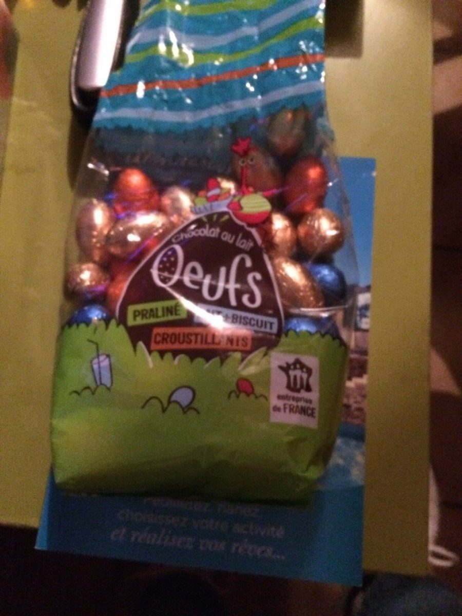 Chocolat au lait oeufs - Product - fr
