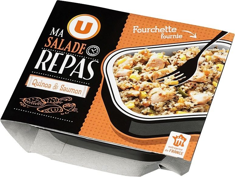 Salade quinoa saumon avec fourchette, - Product