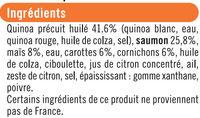 Salade quinoa saumon avec fourchette, - Ingredients