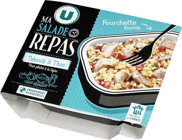 Salade taboulé au thon pêché ligne avec fourchette, - Produit - fr