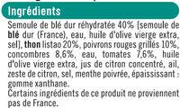 Salade taboulé au thon pêché ligne avec fourchette, - Ingrédients - fr