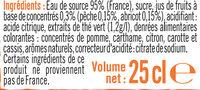 Boisson sans théine pêche abricot - Ingrédients - fr