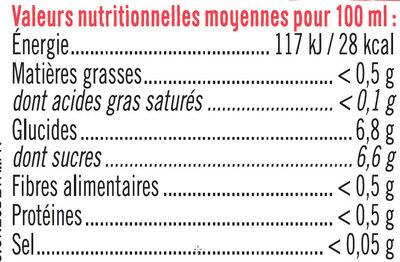 Boisson sans théine pomme fraise - Nutrition facts