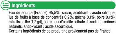 Boisson au thé pêche + poire - Ingrédients - fr