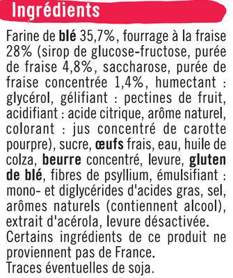 Briochettes fourrées fraise - Ingrédients - fr