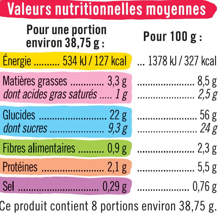 Briochettes fourrées fraise - Informations nutritionnelles - fr