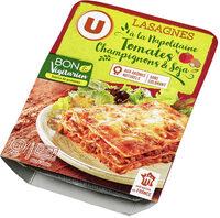 Lasagnes végétariennes aux tomates, champignons et protéines de soja - Produit