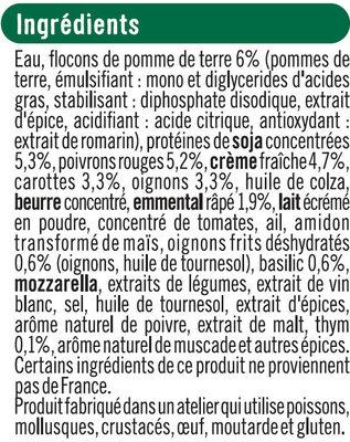 Hachis végétarien aux légumes cuisinés, protéines de soja, thym et basilic - Ingrédients