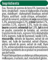 Hachis végétarien aux légumes cuisinés, protéines de soja, thym et basilic - Ingrediënten