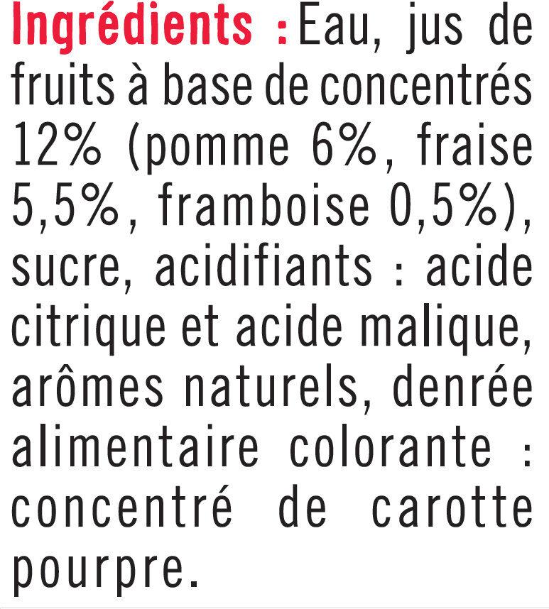 Boisson aux fruits rouges - Ingredients