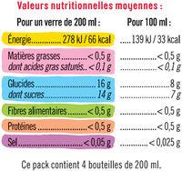 Boisson aux fruits rouges - Nutrition facts
