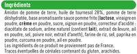 Frit'max goût pom'frites - Ingrédients - fr