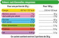 Frit'max goût pom'frites - Informations nutritionnelles - fr