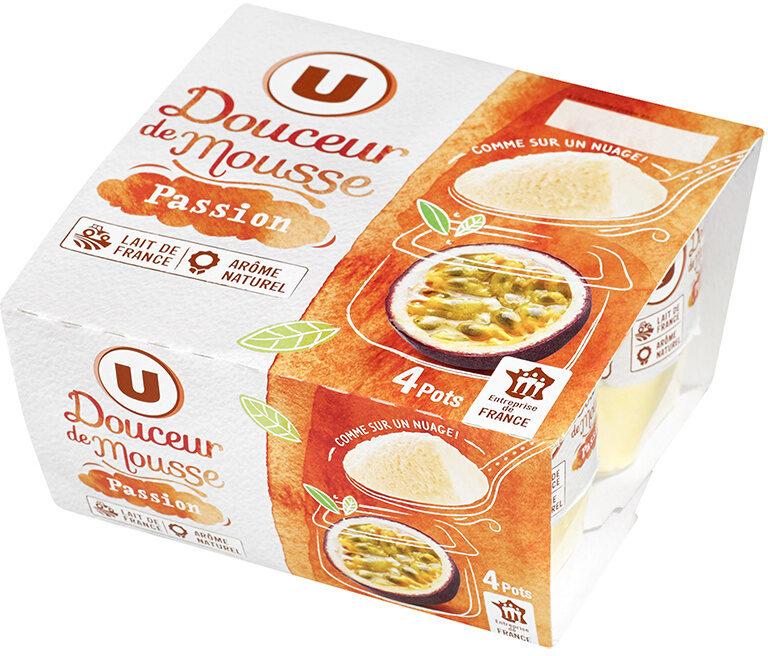 Spécialité laitière sucrée douceur de mousse aux fruits de la passion - Produit - fr
