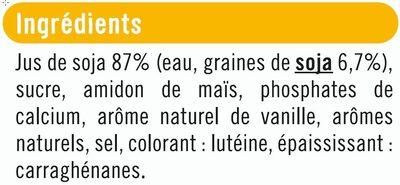 Soja à boire vanille - Ingredients