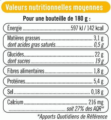 Soja à boire vanille - Nutrition facts