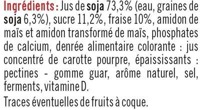 Soja sur Lit de Fraise - Ingredients