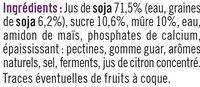 Soja sur lit de mûre - Ingredients