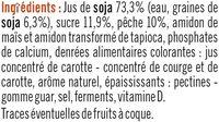 Soja sur Lit de Pêche - Ingrédients