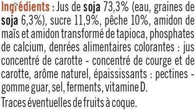 Soja sur Lit de Pêche - Ingredients