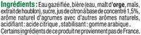 Panaché au jus de citron 1° - Ingredients - fr