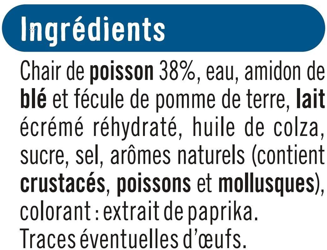 Préparation à base de chair de poissons saveur crabe - Ingrédients