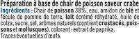 Préparation à base de chair de poisson saveur crabe - Ingredienti - fr