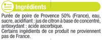 """Jus de poire de Provence """"fruits de chez nous"""" - Ingredients - fr"""
