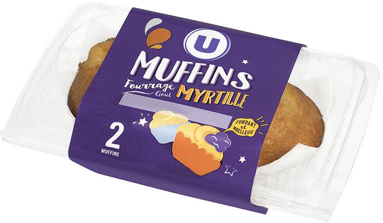 Muffins fourrés myrtille - Produit - fr