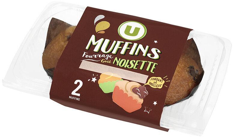 Muffins fourrés chocolat noisette - Produit - fr