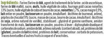 Muffins fourrés chocolat noisette - Ingrédients - fr